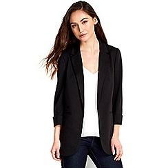Wallis - Black longline blazer