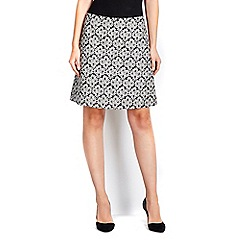 Wallis - Black floral mini skirt