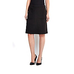 Wallis - Black a-line skirt