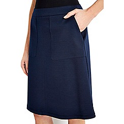 Wallis - Navy a-line skirt