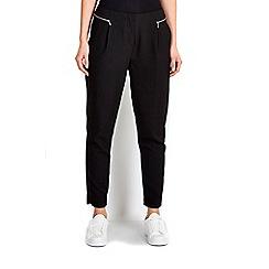 Wallis - Black zip tapered trouser