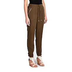 Wallis - Khaki tie waist jogger trouser