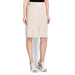 Wallis - Stone split front skirt