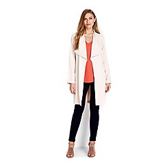 Wallis - Blush luxe belted jacket