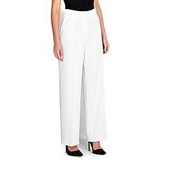 Wallis - Ivory wide leg trouser