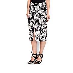 Wallis - Monochrome palm print pencil skirt