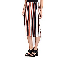 Wallis - Stripe pencil skirt