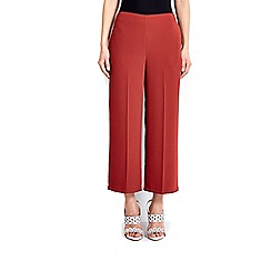 Wallis - Rust wide leg cropped trouser