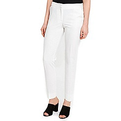 Wallis - Cream slim leg trousers