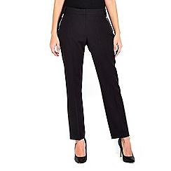 Wallis - Black slim zip pocket trousers