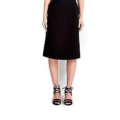 Wallis - Black a-line skirt