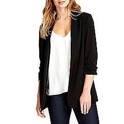 Wallis - Black longline crepe blazer