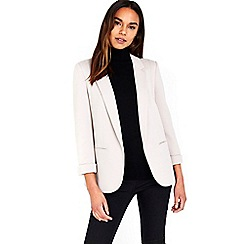 Wallis - Stone ribbed blazer