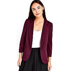 Wallis - Berry ribbed jacket