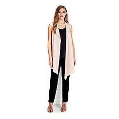 Wallis - Soft crepe sleeveless jacket