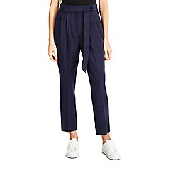 Wallis - Navy tie belt trouser