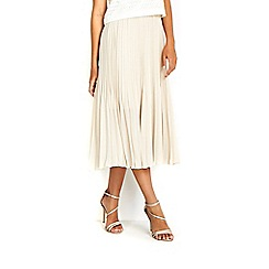 Wallis - Ivory pleated skirt