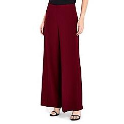 Wallis - Claret side zip wide leg trouser