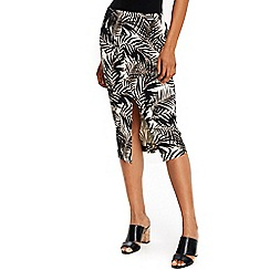 Wallis - Palm print pencil skirt
