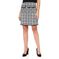 Wallis - Black checked skirt
