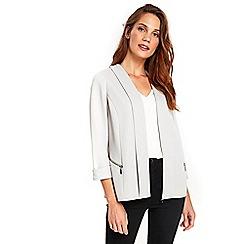 Wallis - Grey ripped jacket