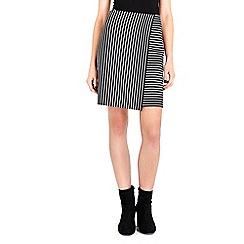 Wallis - Black shift wrap mini skirt