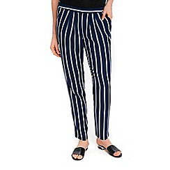 Wallis - Navy stripe tapered trousers