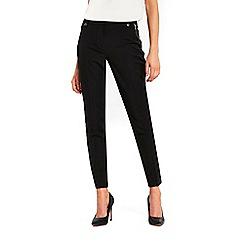 Wallis - Black tapered slim trousers