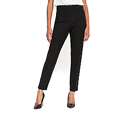 Wallis - Black tapered side zip trousers