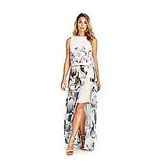 Wallis - Monochrome floral maxi skirt