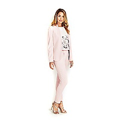 Wallis - Pale pink tie back jacket