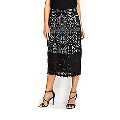 Wallis - Black lace skirt