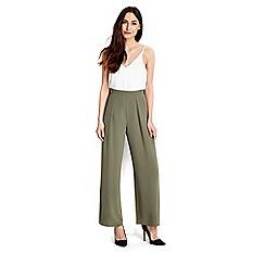 Wallis - Khaki wide leg trouser