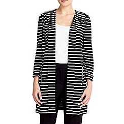 Wallis - Black and stone striped jacket