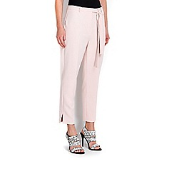 Wallis - Pale pink tapered crop trouser