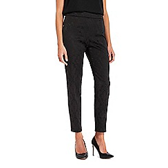 Wallis - Black jacquard trousers