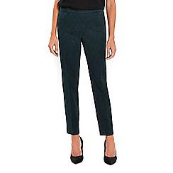 Wallis - Green jacquard trousers