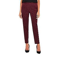 Wallis - Berry jacquard trousers