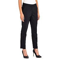 Wallis - Black cotton compact trouser