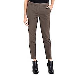 Wallis - Khaki compact cotton trouser