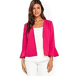 Wallis - Hot pink flute sleeves jacket