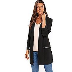 Wallis - Black longline scuba jacket