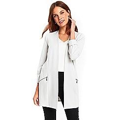 Wallis - Grey longline scuba jacket