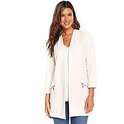 Wallis - Blush longline scuba jacket