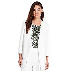 Wallis - Ivory longline jacket