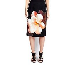 Wallis - Black floral skirt