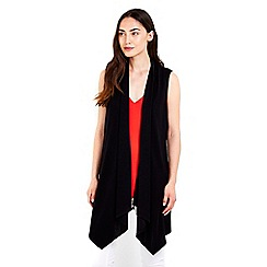 Wallis - Black sleeveless jacket