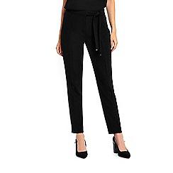 Wallis - Black tie waist trousers