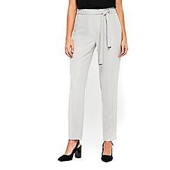 Wallis - Grey tie waist trousers