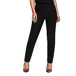 Wallis - Black high waist button trousers